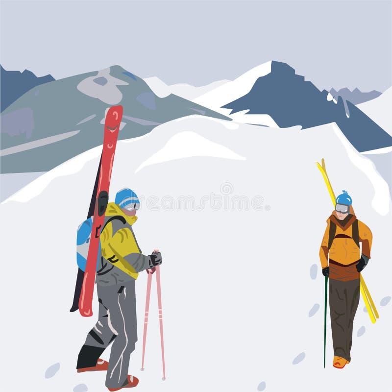 Snowwalk stock illustrationer