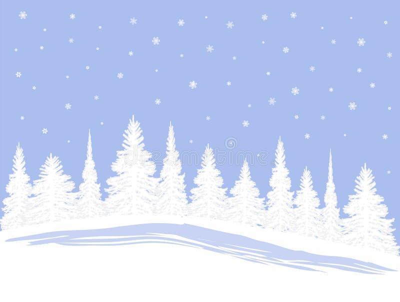 SnowXmasTrees stock de ilustración