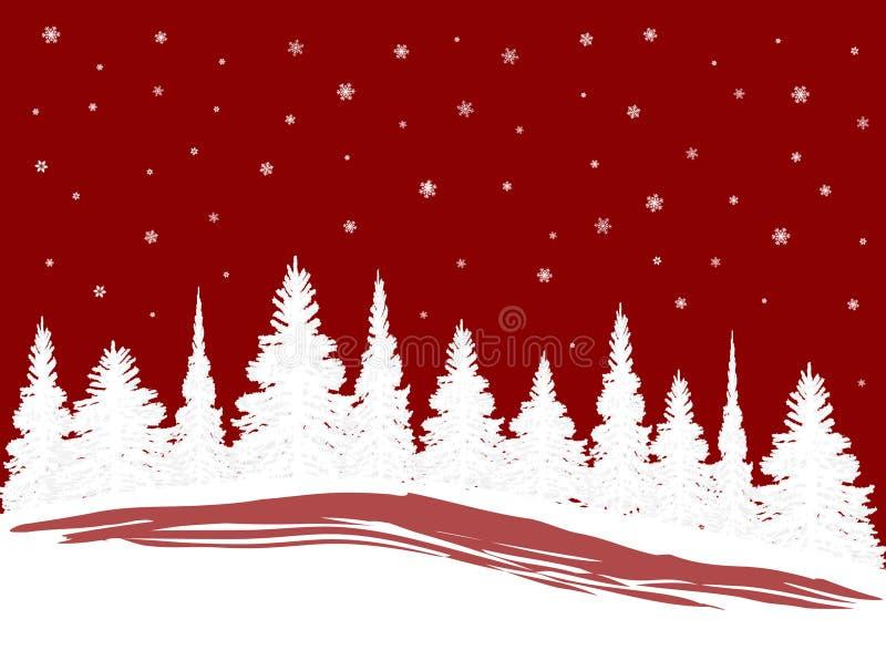 SnowXmasTrees ilustración del vector