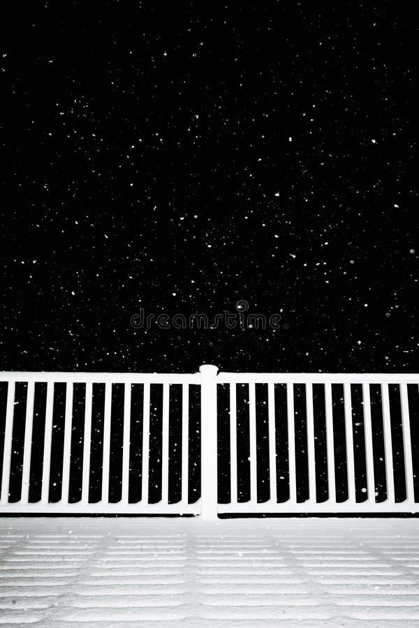 Snowy-Abend lizenzfreies stockfoto