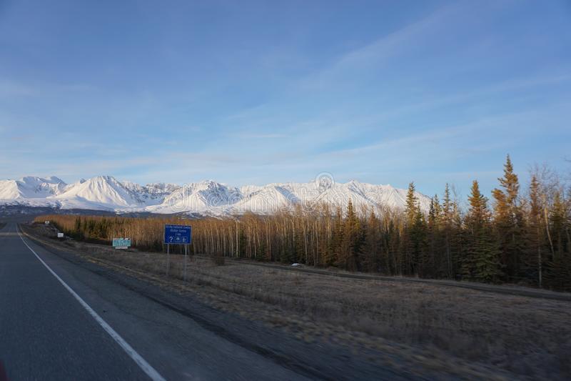 Snowy Alaska Mountains royalty free stock images