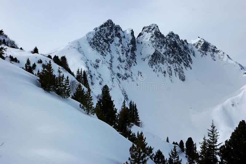 Download Snowy alps stock image. Image of rock, hiking, cold, snow - 14191749
