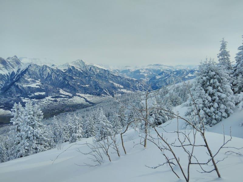 Snowy-Berg Eange stockfotos