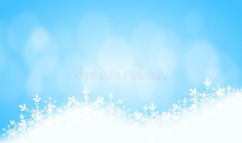 Snowy-Blauhintergrund stock abbildung