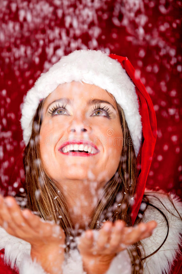 Download Snowy Christmas stock photo. Image of person, beautiful - 22217628