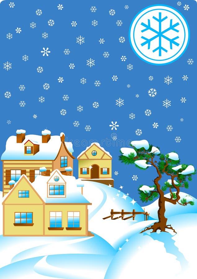 snowy ilustração stock