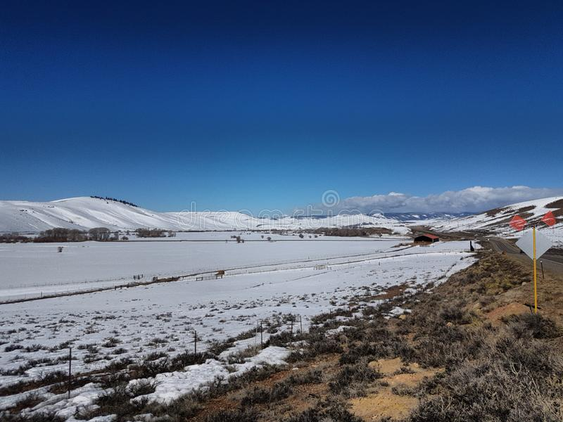 Snowy-Ebenen stockbild