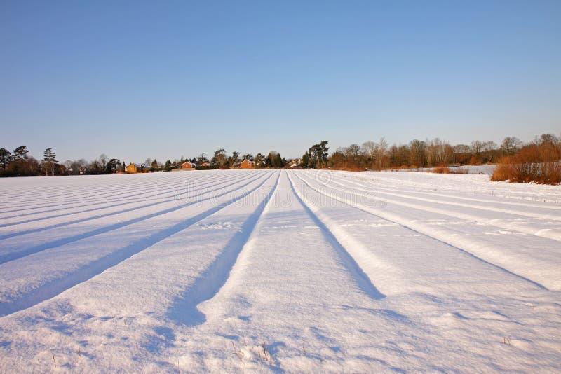 Snowy-Englischlandschaft lizenzfreies stockbild