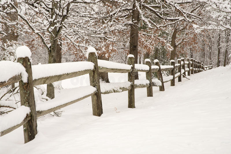 Download Snowy Fence stock photo. Image of winter, season, frozen - 54656700