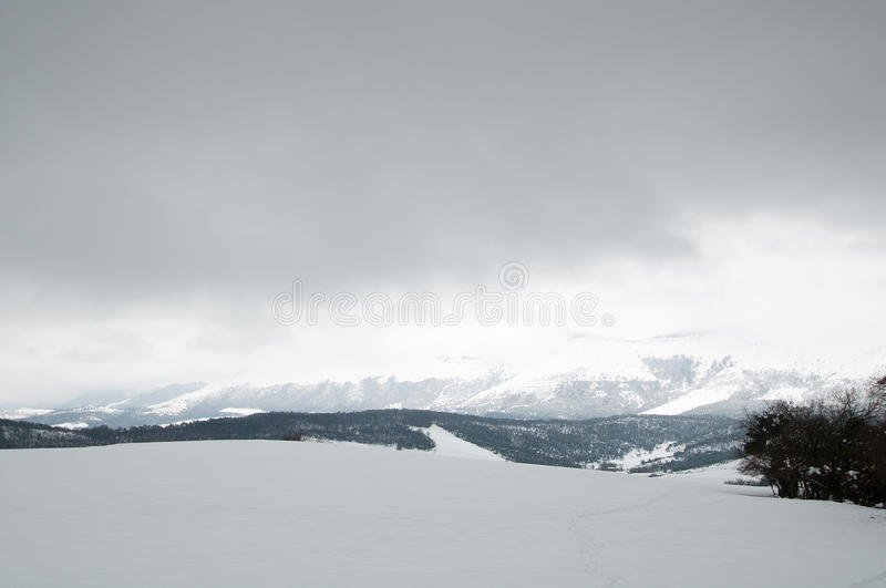 Download Snowy fields and mountains stock image. Image of basque - 31838375