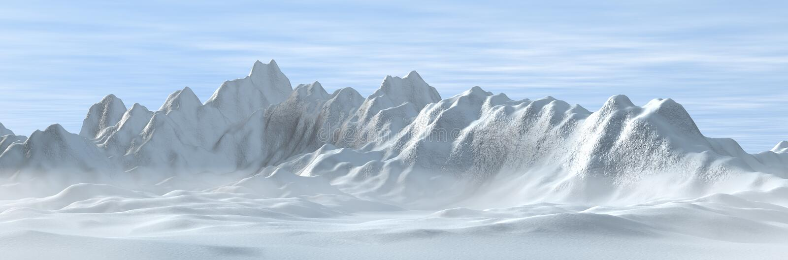 Download Snowy And Foggy Mountains Royalty Free Stock Photo - Image: 8893935