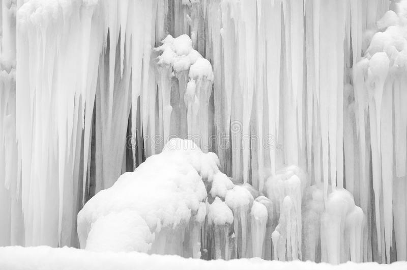 Snowy frozen icicles royalty free stock photos