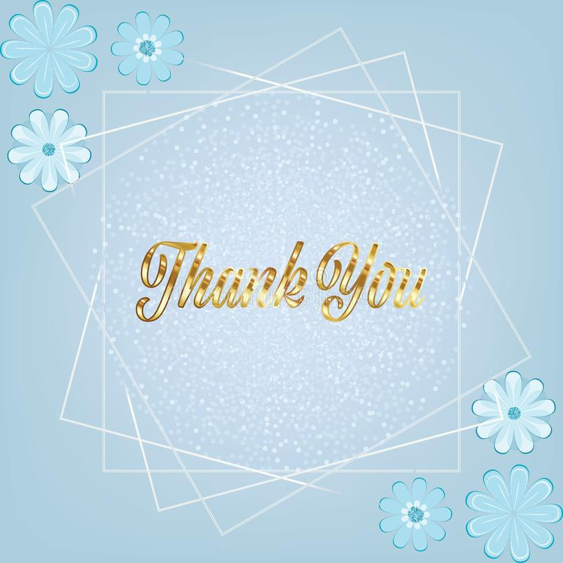 Snowy glittery greeting card for Christmas, thank you and festive occasions. Vector greeting and thank you card with glittery snowy and floral background for royalty free illustration