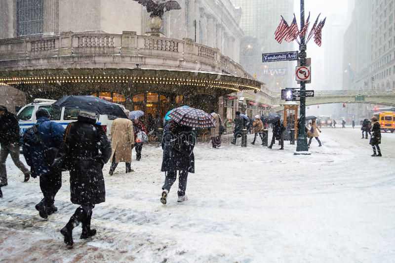 Download Snowy Grand Central editorial photo. Image of buildings - 37128541