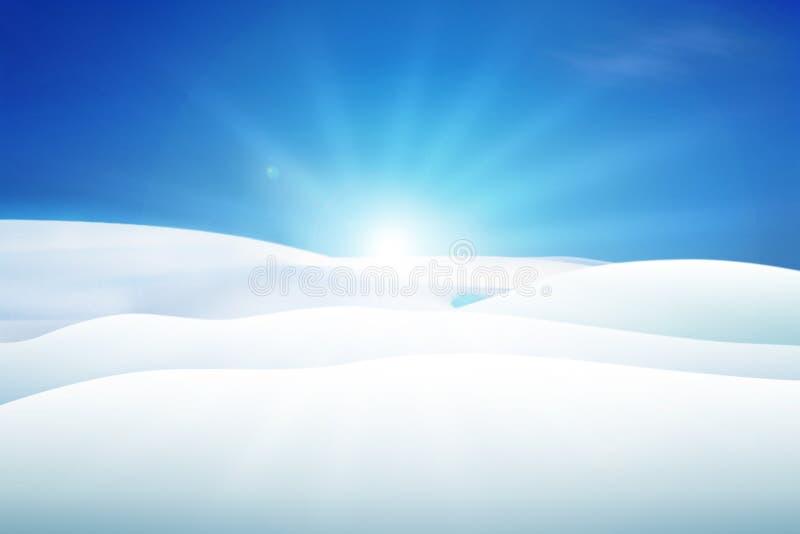 Snowy-Hügel stock abbildung
