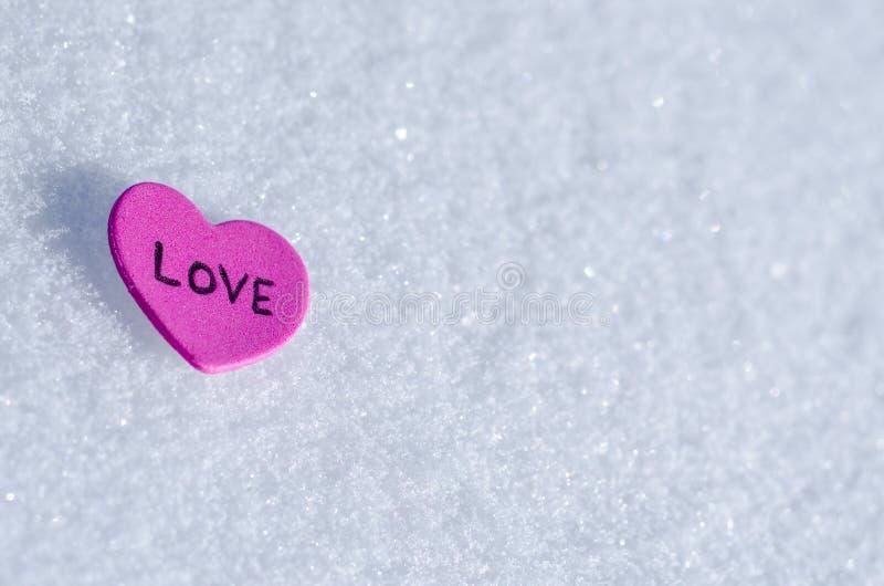 Snowy-Herzen stockbilder