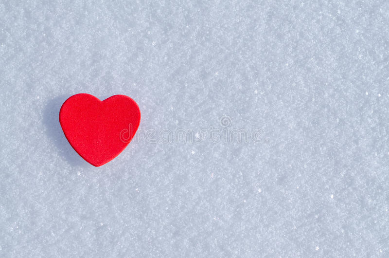 Snowy-Herzen stockfotos