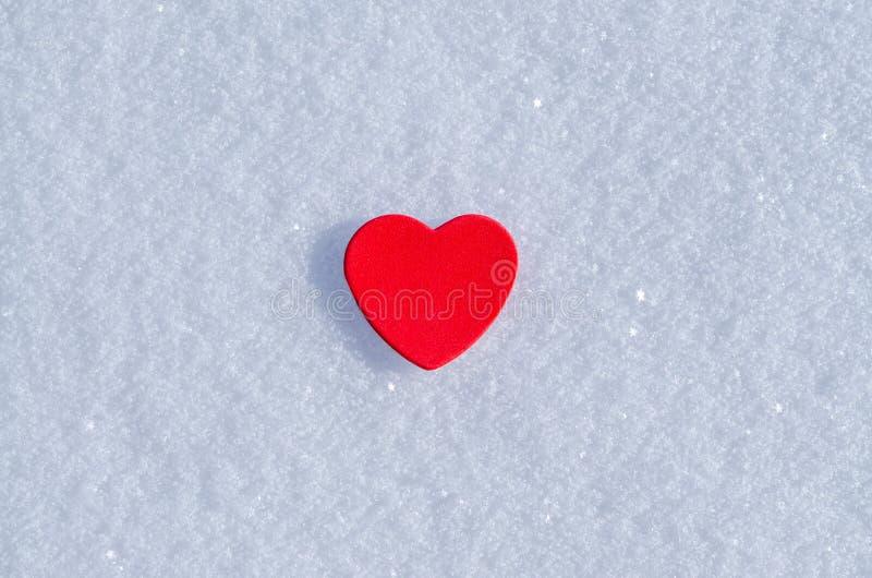 Snowy-Herzen stockbild