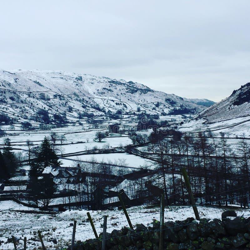 Snowy Inghilterra fotografia stock libera da diritti