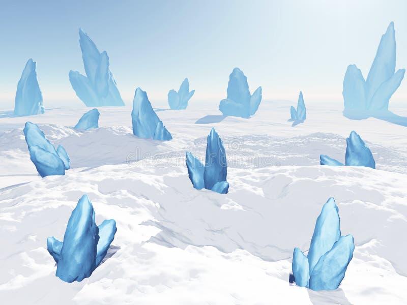 Download Snowy landscape stock illustration. Illustration of blue - 28351117