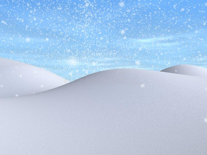 Snowy landscape vector illustration