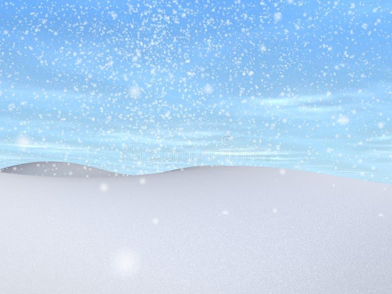 Snowy landscape royalty free illustration