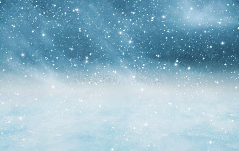 Snowy-Landschaftsbeschaffenheit lizenzfreie stockfotos