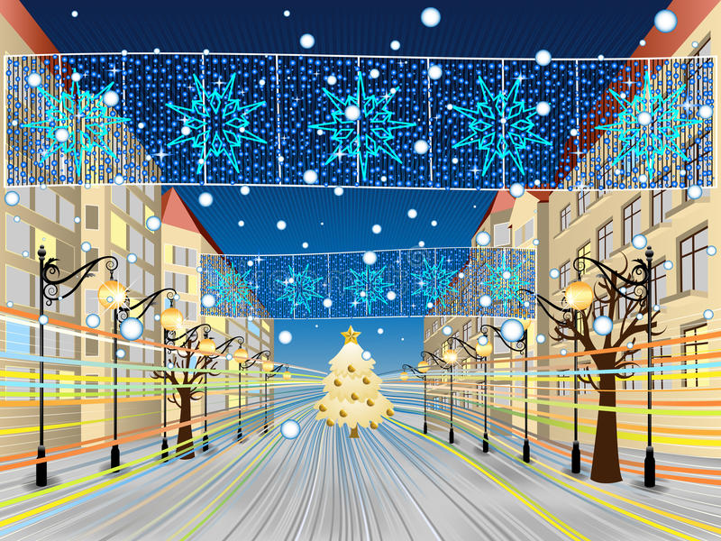 Download Snowy Main Street Royalty Free Stock Photography - Image: 16632127
