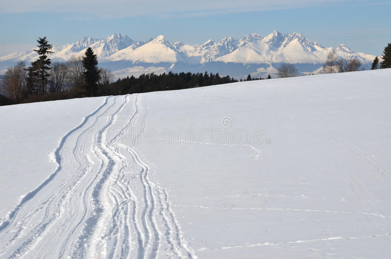 Download Snowy mountain stock photo. Image of snowy, landscape - 26691776