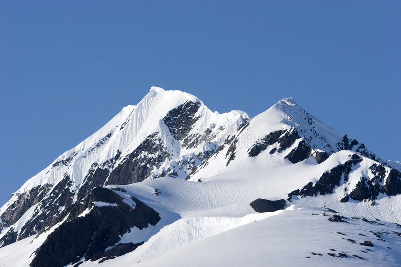 Snowy mountain royalty free stock image