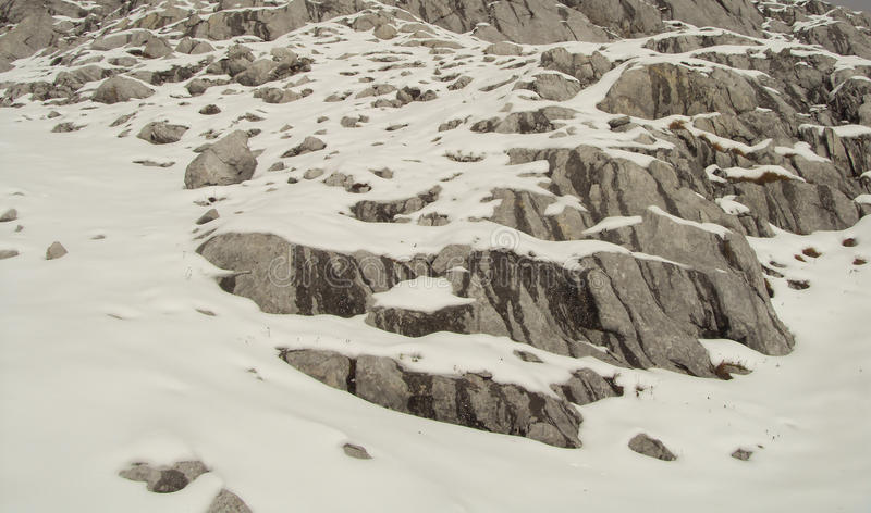 Snowy Mountain royalty free stock photography