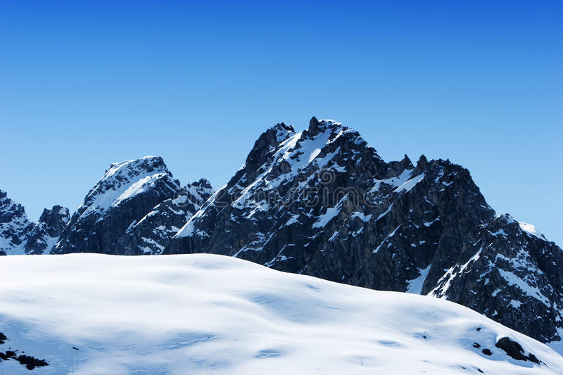 Download Snowy mountain peaks stock photo. Image of cold, landscape - 13546412