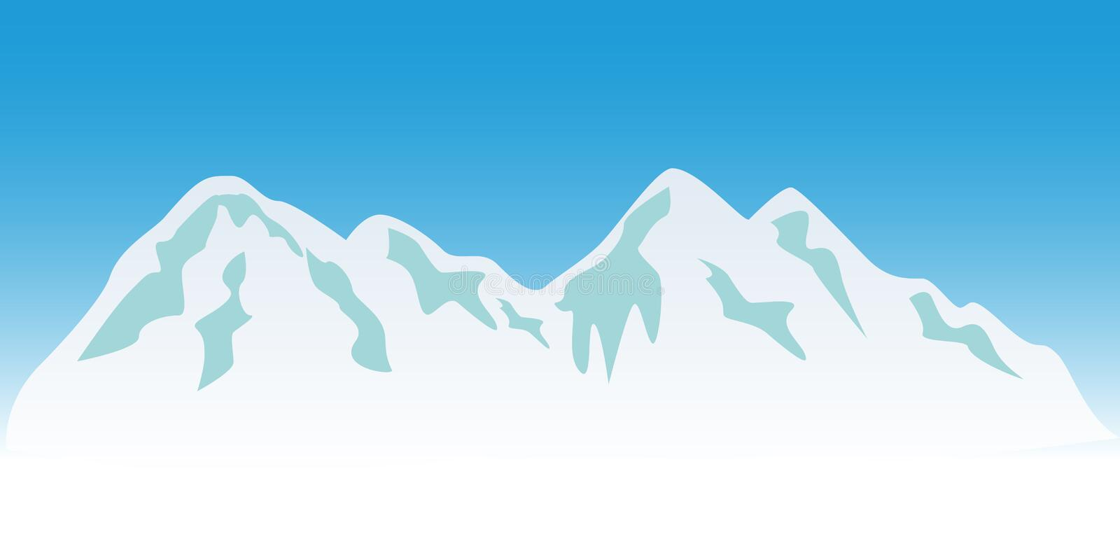 Download Snowy mountain peaks stock vector. Illustration of nature - 15506293