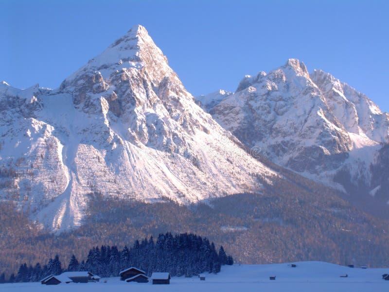 Snowy Mountain Peaks stock photos