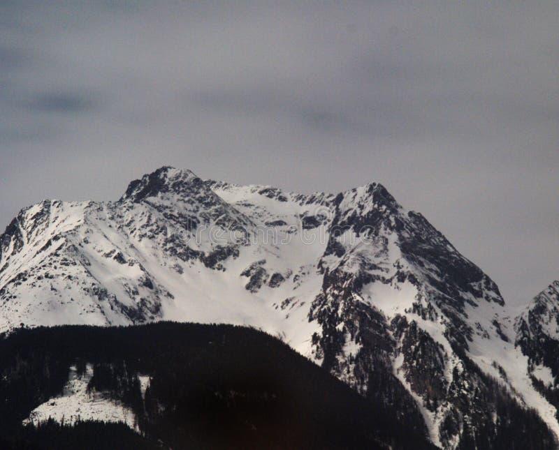 Snowy mountain range royalty free stock photography