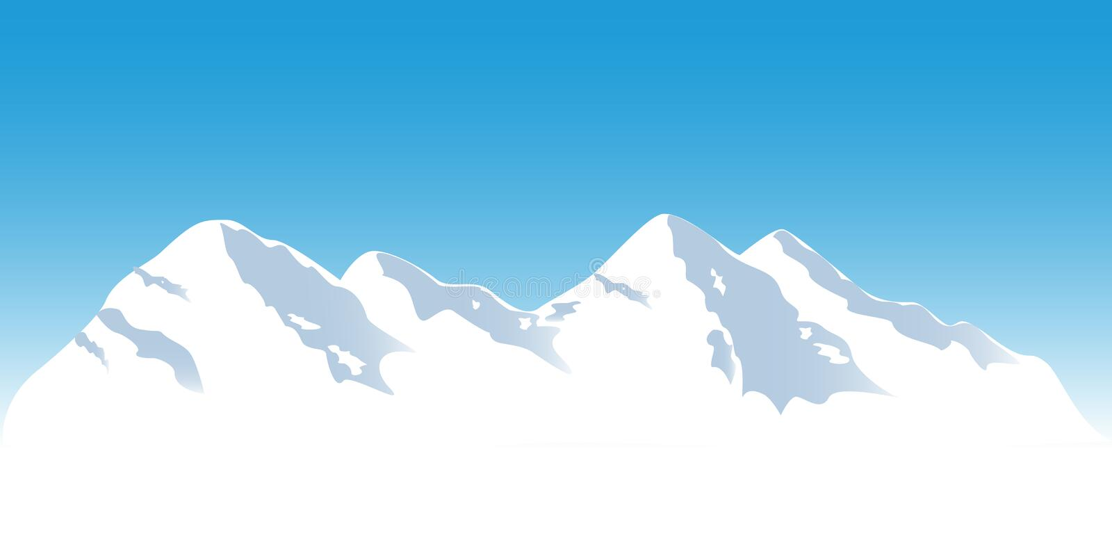 Download Snowy mountain tops stock vector. Image of clip, vector - 15610775