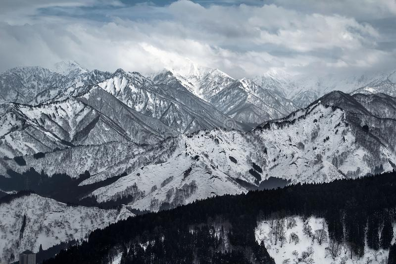 Snowy mountains royalty free stock photos