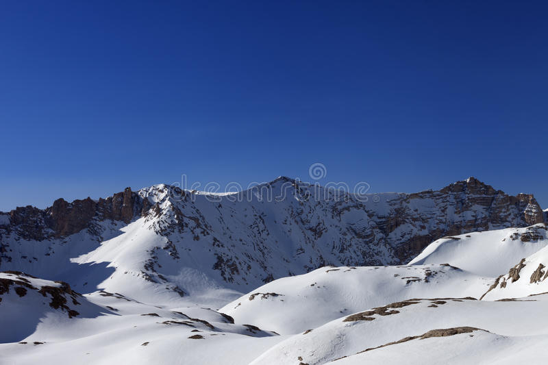 Download Snowy Mountains And Blue Sky In Morning Stock Photo - Image: 34499860