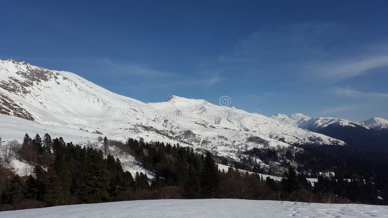Snowy mountains royalty free stock image