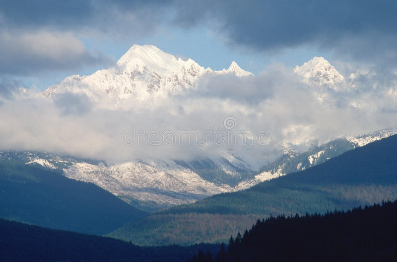 Snowy Mountains With Mt. Baker, WA Stock Photo