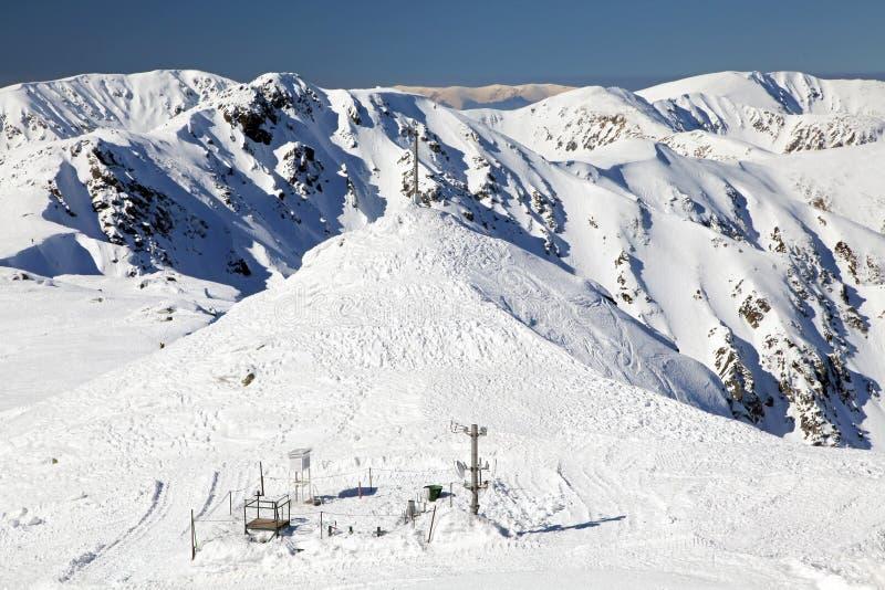 Snowy nature - Low Tatras mountains, Slovakia stock images