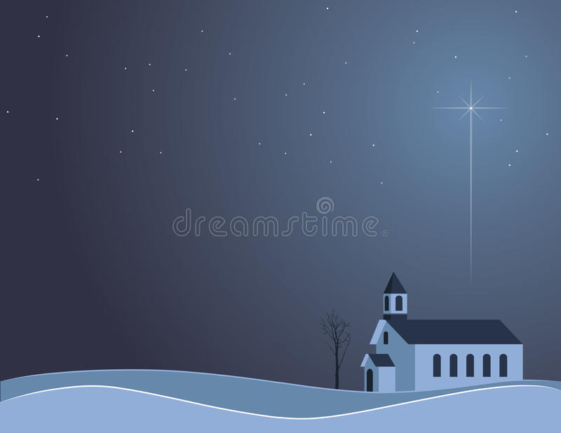 Download Snowy Night Church stock vector. Image of holiday, silent - 16898795