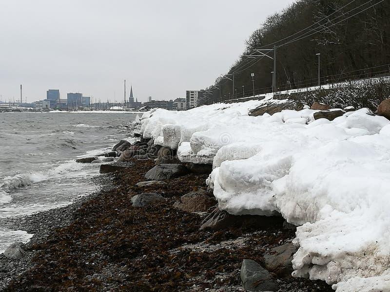 Snowy Ocean stock photography
