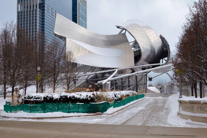 Snowy Pavillion lizenzfreie stockfotos