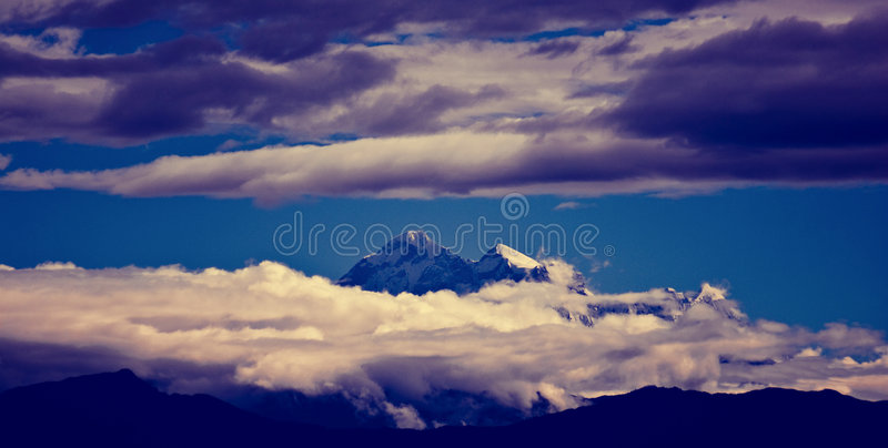 Snowy peaks royalty free stock photos
