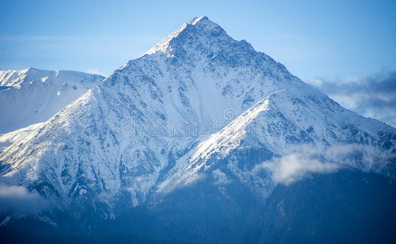 Snowy peaks of the Tien Shan royalty free stock photo
