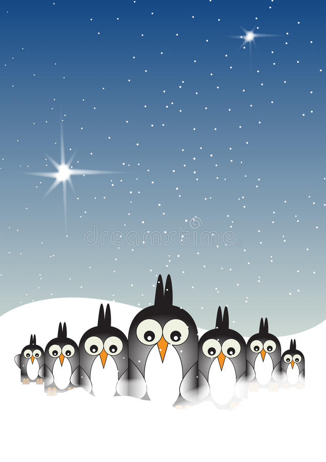 Download Snowy Penguins stock illustration. Illustration of winter - 15726650