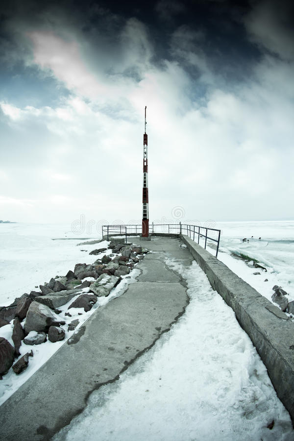 Download Snowy pier stock photo. Image of dock, snowy, dramatic - 28683474
