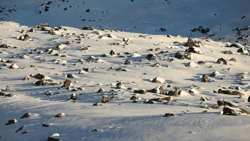 Download Snowy plateau stock image. Image of rocks, covered, high - 27258241