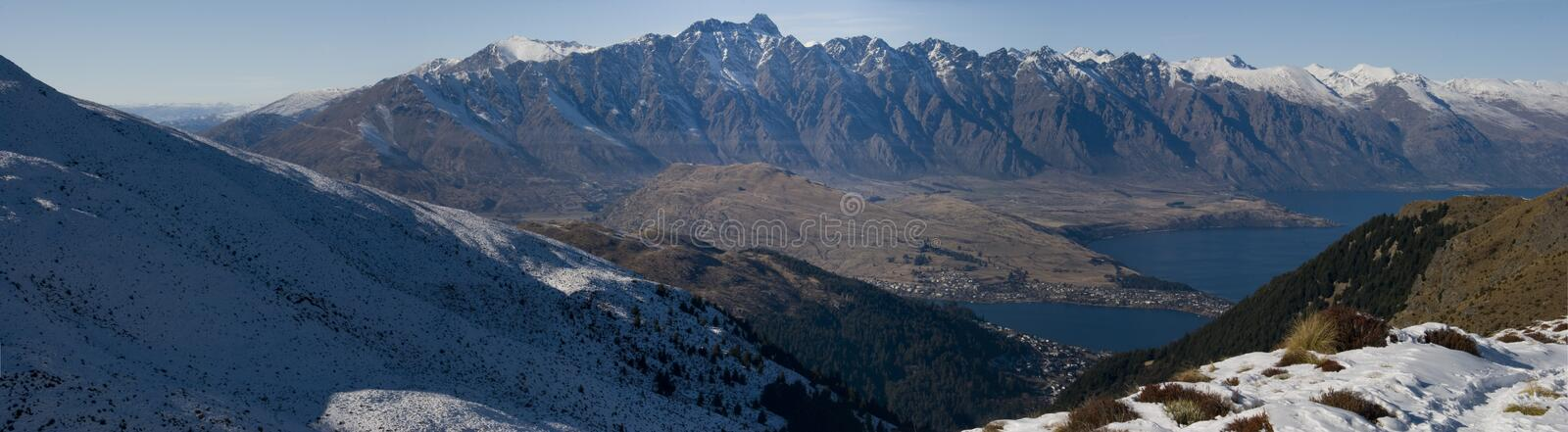 Snowy Remarkables stock image